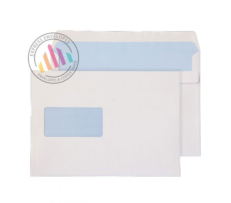 C5 white commercial window envelopes 90gsm self seal wallet for Window envelopes