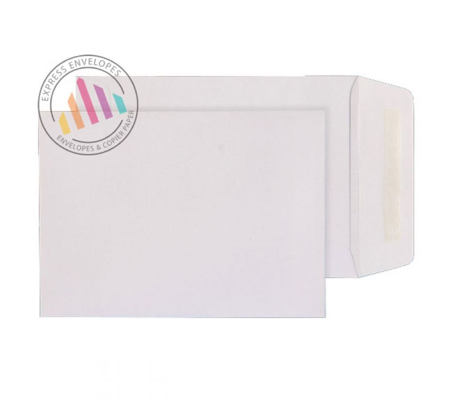 White commercial envelopes 90gsm gummed pocket 124 x 89mm for Window envelopes