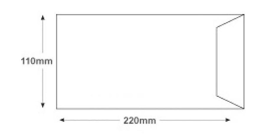 dl envelope size