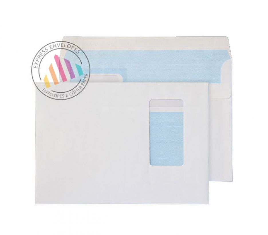 C5 white portrait window envelopes 100gsm self seal wallet for Window envelopes