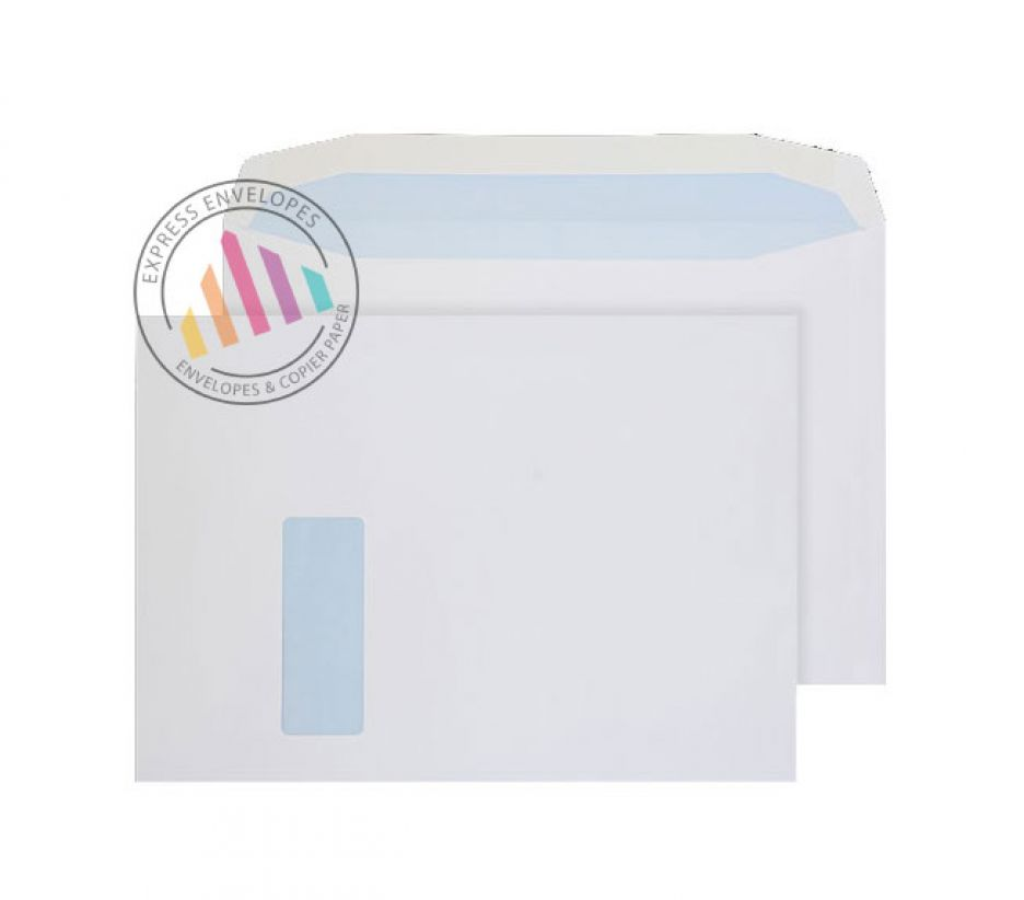 C4 window envelopes white 100gsm gummed wallet for 10 window envelope size