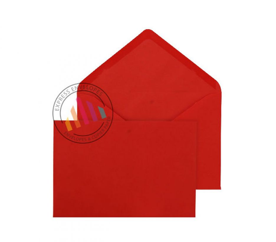 C6 Red Invitation Envelopes - 100gsm - Non Window - Gummed