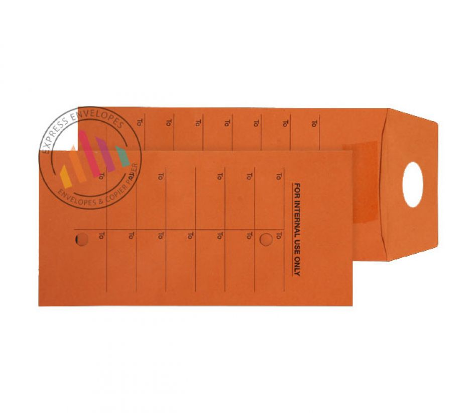 DL - Orange Internal Mail Envelopes - 120gsm - Non Window - Resealable