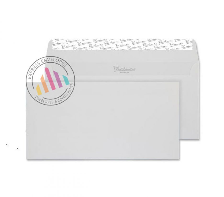 DL - Smooth Diamond White Envelopes - 135gsm - Non Window - Peel & Seal