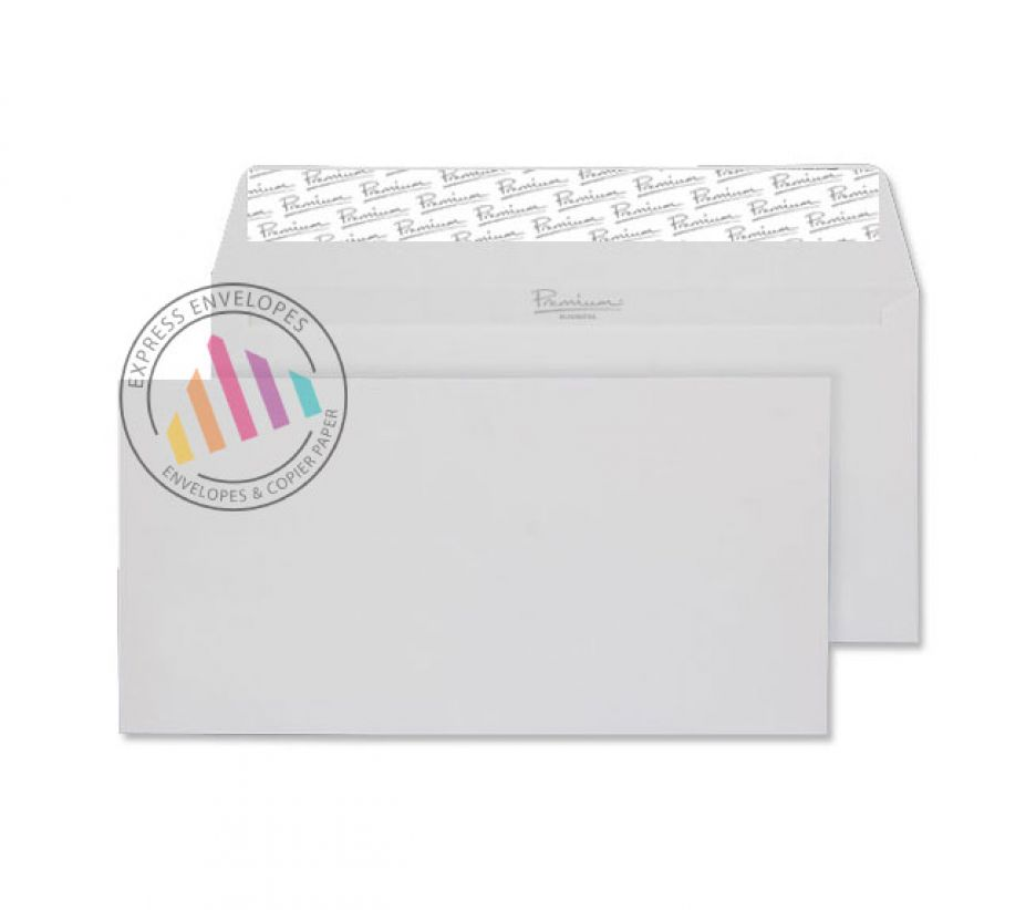 DL - Diamond White Laid Envelopes - 120gsm - Non Window - Peel & Seal
