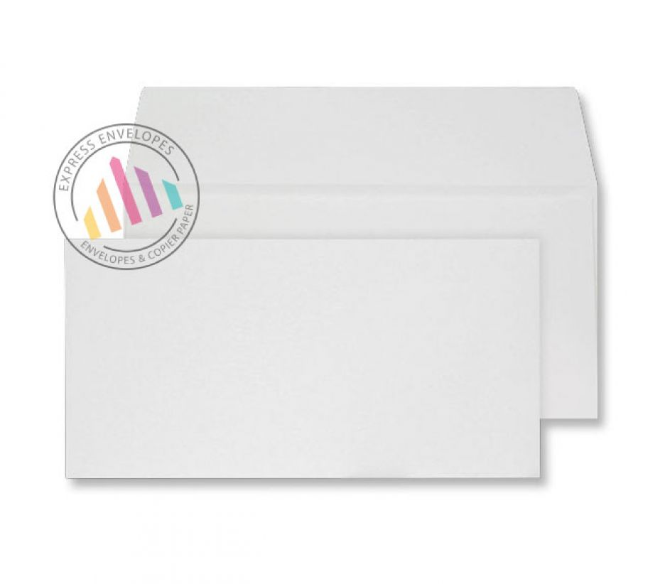DL - Beautifully White Handmade Envelopes - 180gsm - Non Window - Peel & Seal