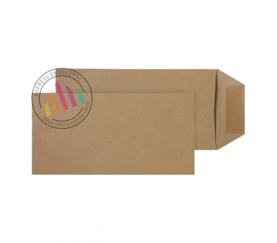 121mm x 235mm - Manilla Commercial Envelopes - 80gsm - Non Window - Self Seal