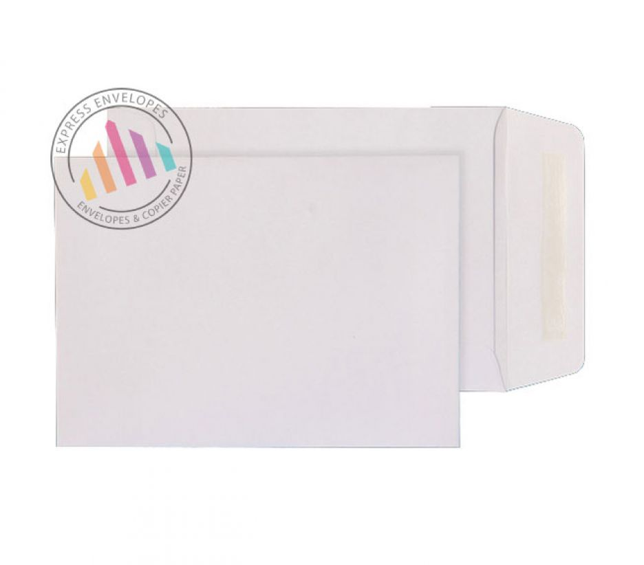 190mm x 127mm - White Commercial Envelopes - 90gsm - Non Window - Gummed