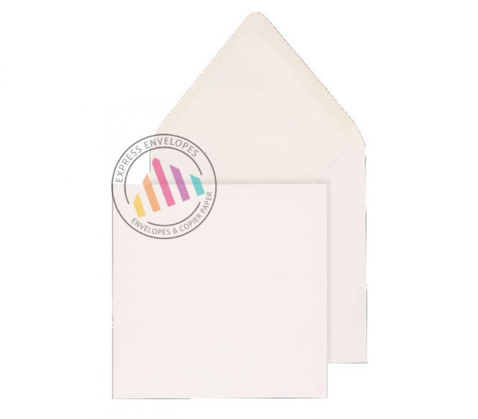140 x 140mm - White Invitation Envelopes - 100gsm - Non Window - Gummed
