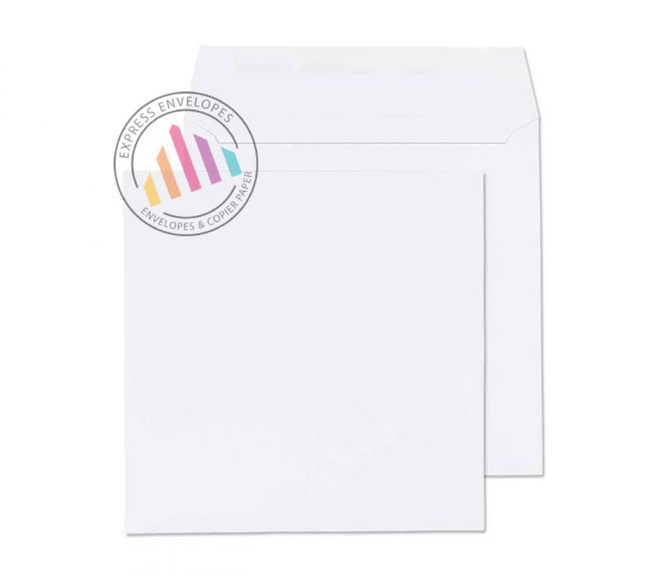 155 x 155mm - White Commercial Envelopes - 100gsm - Non Window - Gummed