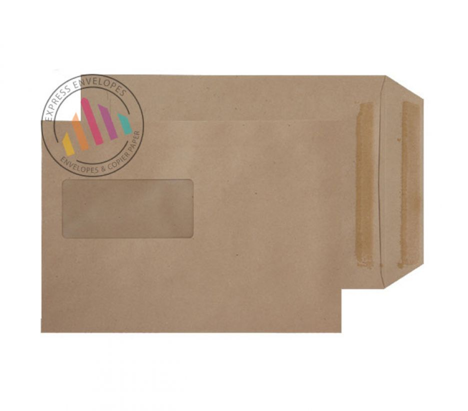 C5  - Manilla Commercial Envelopes - 80gsm - Window - Self Seal