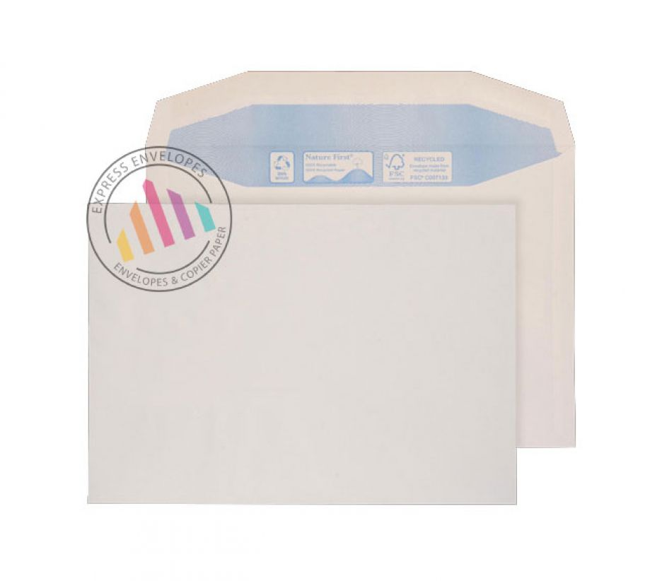 Recycled C5 - White Mailer Envelopes - 90gsm - Non Window - Gummed