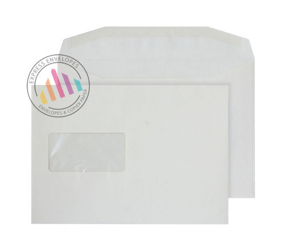 C5 - Cream Mailing Envelopes - 100gsm - Window - Gummed