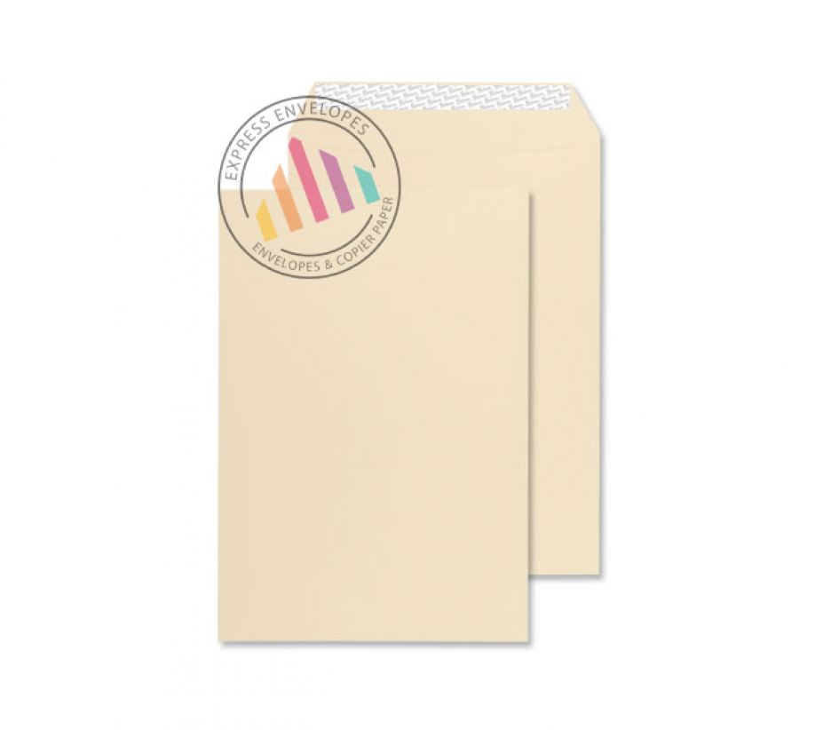 C5 - Cream Wove Gusset Envelopes - 140gsm - Non Window - Peel & Seal