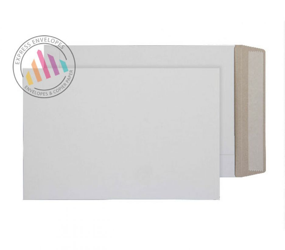 C5 - White Recycled All board Envelopes - 350gsm - Peel and Seal