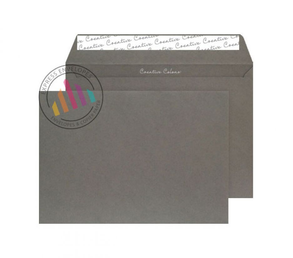 C5 - Graphite Grey Envelopes - 120gsm - Non Window - Peel & Seal