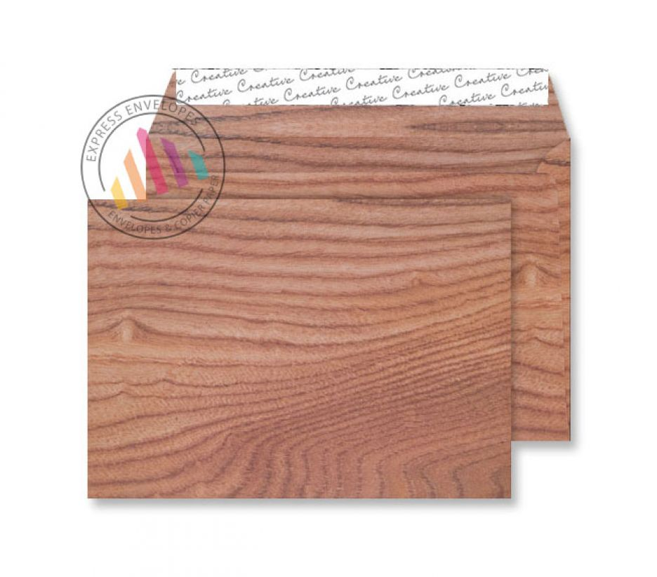 C5 - Polished Oak Natural Finish Envelopes - 135gsm - Non Window - Peel & Seal