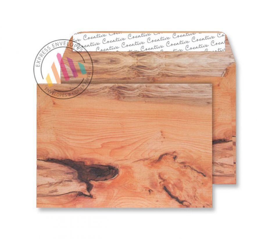 C5 - Planed Yew Natural Finish Envelopes - 135gsm - Non Window - Peel & Seal