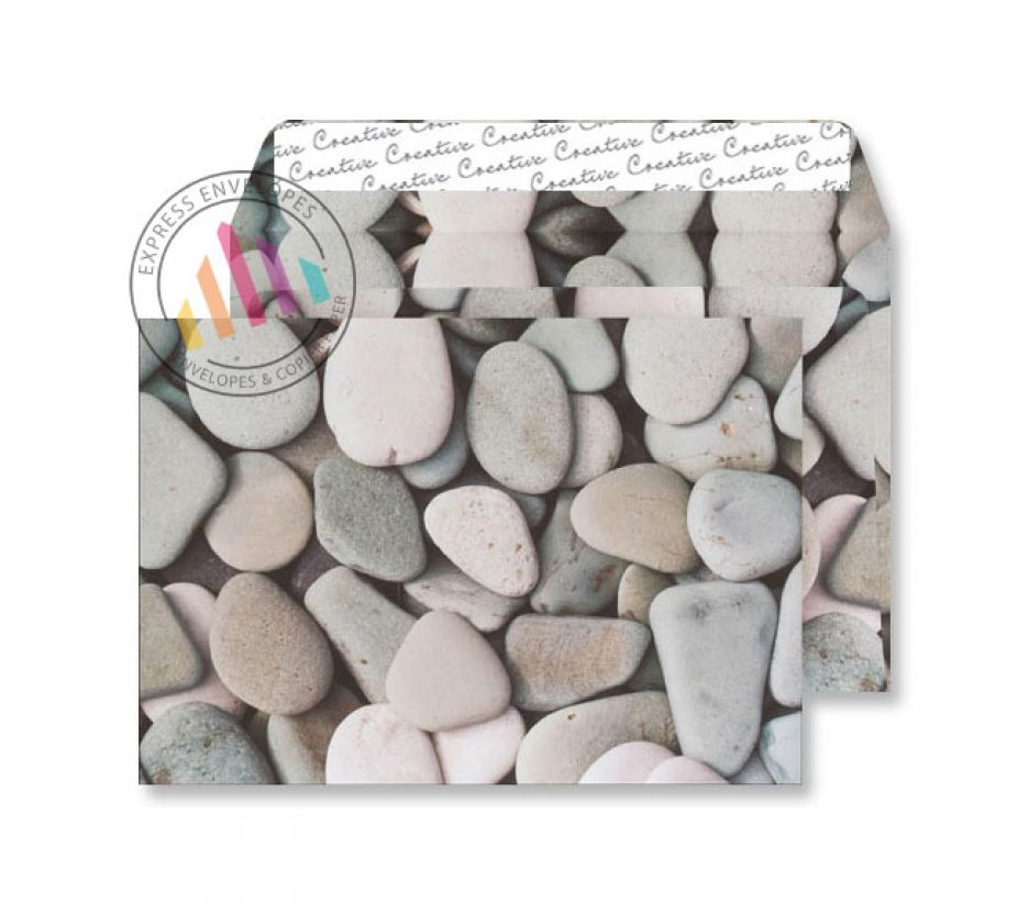 C5 - Purbeck Pebbles Finish Envelopes - 135gsm - Non Window - Peel & Seal
