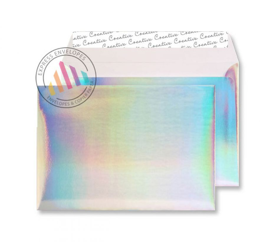 C5 - Shimmering Rainbow Envelopes - 140gsm - Non Window - Peel & Seal
