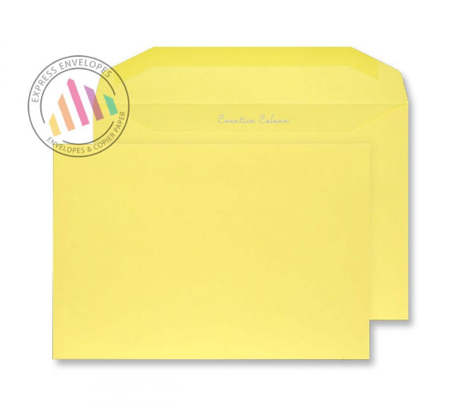 C5+ - Banana Yellow Envelopes - 120gsm - Non Window - Gummed