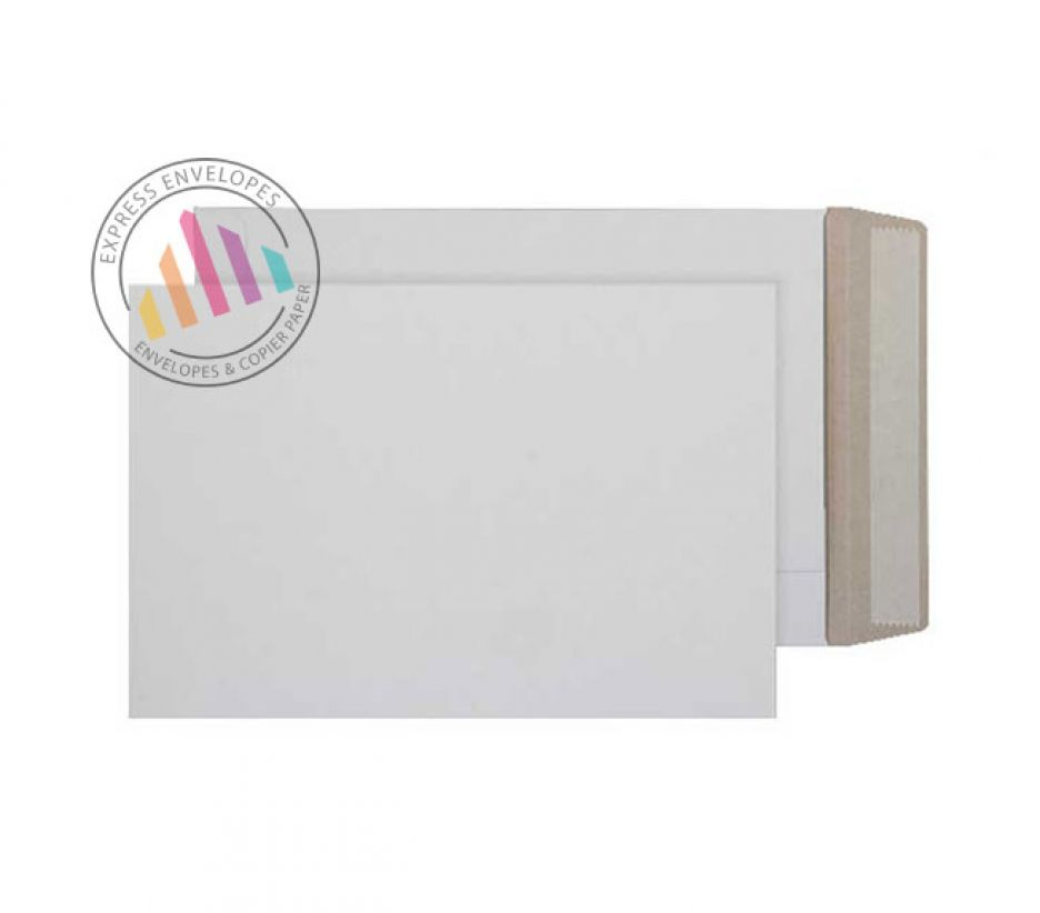 240x165mm - White All Board Envelopes - 350gsm - Peel and Seal