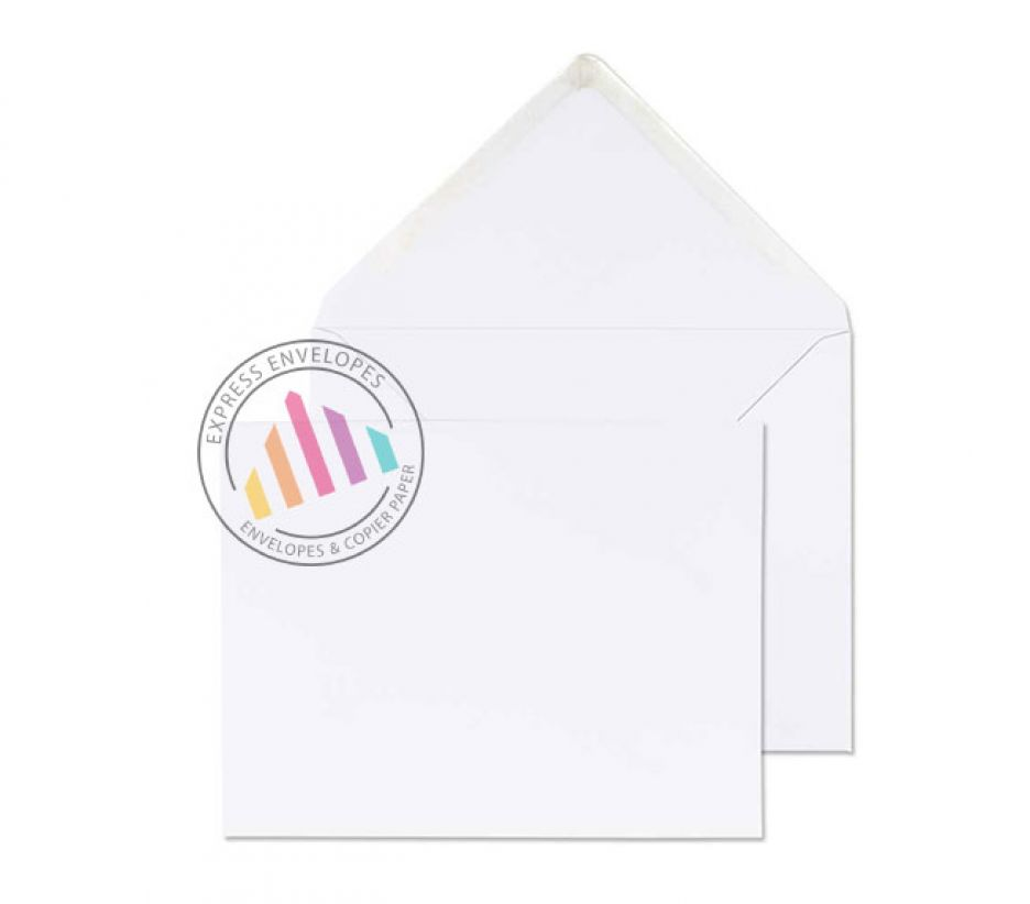 184x235mm - White Invitation Envelopes - 100gsm - Non Window - Gummed