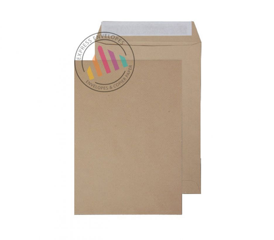 254mm x 178mm - Manilla Commercial Envelopes - 115gsm - Non Window - Peel & Seal