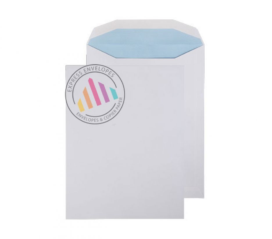 310 x 238mm - White Mailing Envelopes - 100gsm - Non Window - Gummed