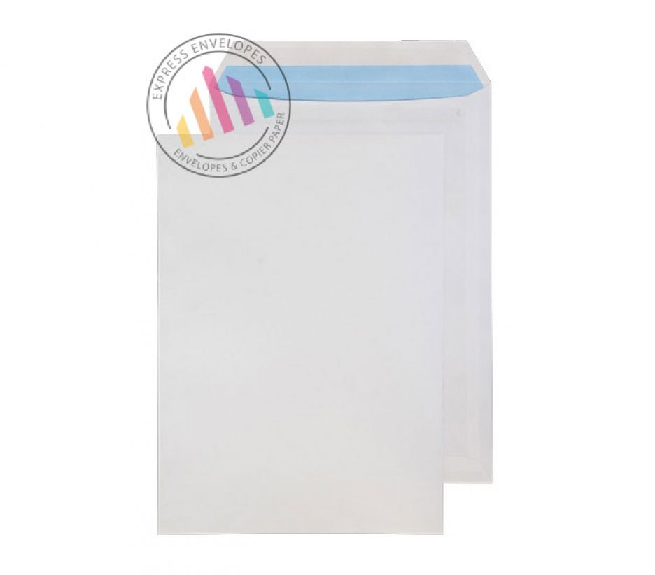 C4 - White Commercial Envelopes - 110gsm - Non Window - Self Seal