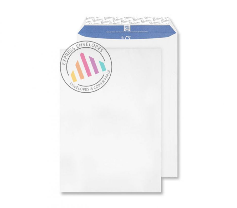 C4 -  Super White Wove Envelopes - 120gsm - Non Window - Peel & Seal