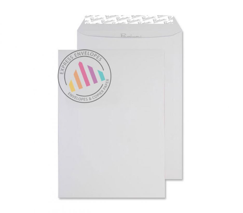 C4 - Smooth Diamond White Envelopes - 120gsm - Non Window - Peel & Seal
