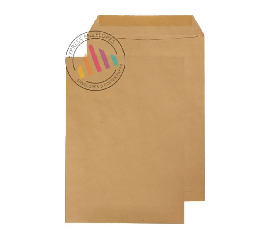 C4 - Manilla Commercial Envelopes - 90gsm - Non Window - Gummed