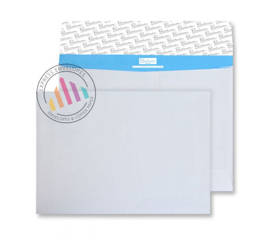 C4 - White Gusset Tear Resistant Envelopes  - 125gsm - Non Window - Peel & Seal