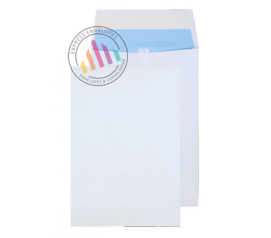 Recycled C4 - White Gusset Envelopes - 150gsm - Non Window - Peel & Seal