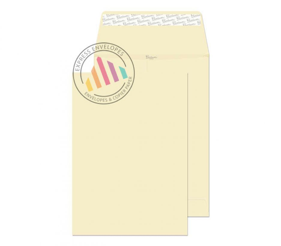 C4 - Cream Wove Gusset Envelopes - 140gsm - Non Window - Peel & Seal