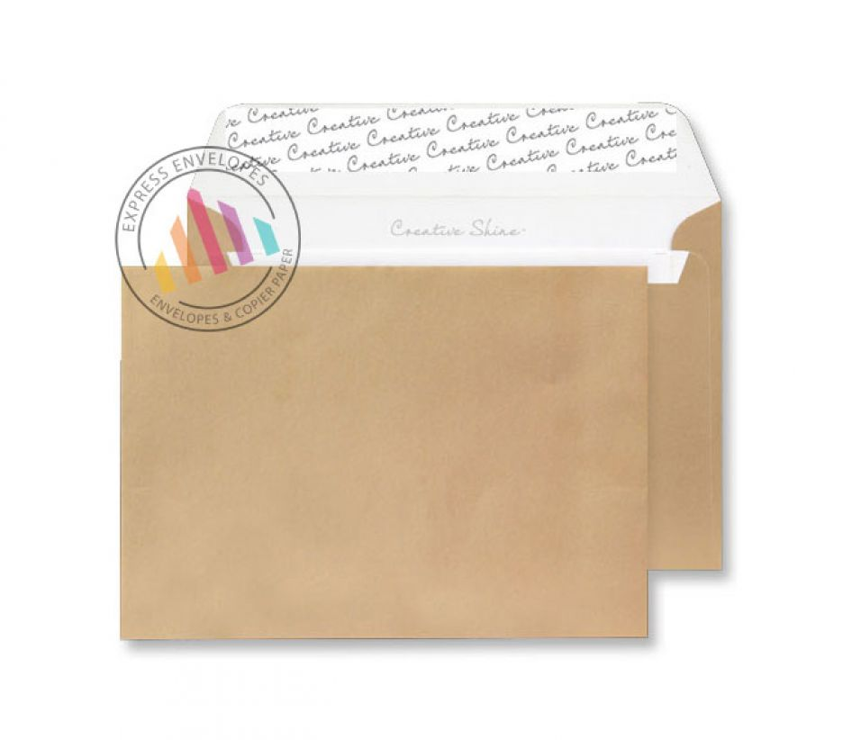 C4 - Metallic Gold Envelopes - 130gsm - Non Window - Peel & Seal