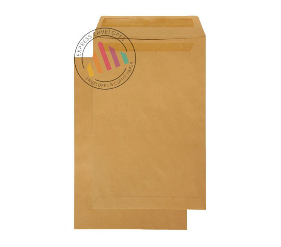 352 x 229mm - Manilla Commercial Envelopes - 90gsm - Non Window - Self Seal
