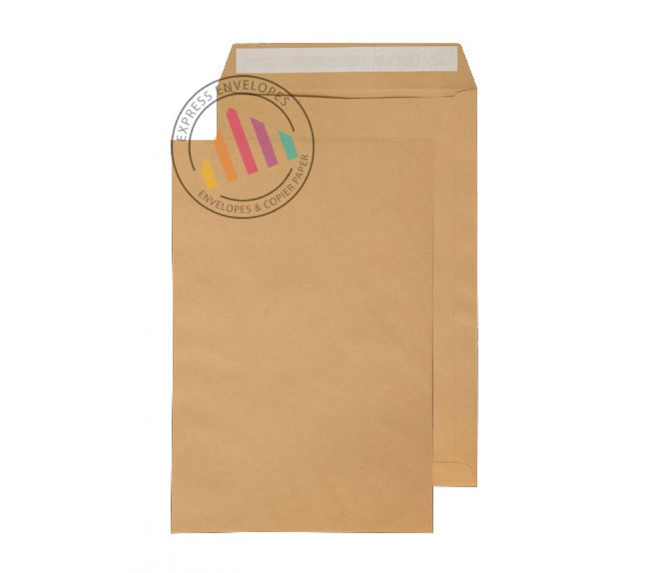 381 x 245mm - Manilla Commercial Envelopes - 115gsm - Non Window - Peel & Seal
