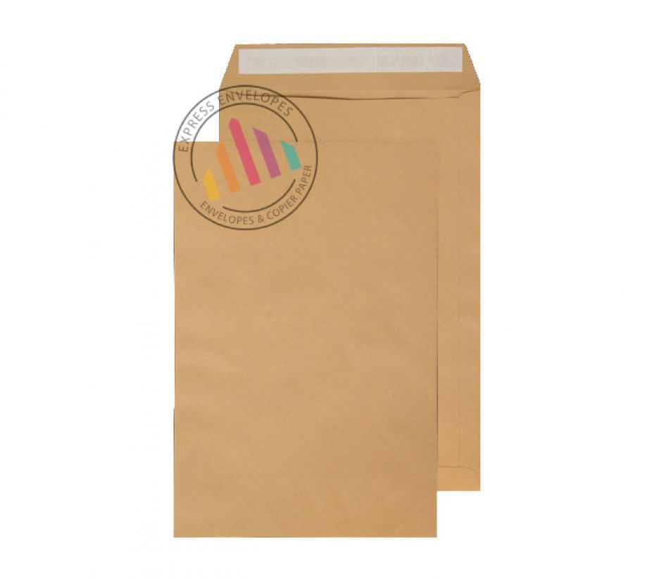 406 x 305mm - Manilla Commercial Envelopes - 115gsm - Non Window - Peel & Seal