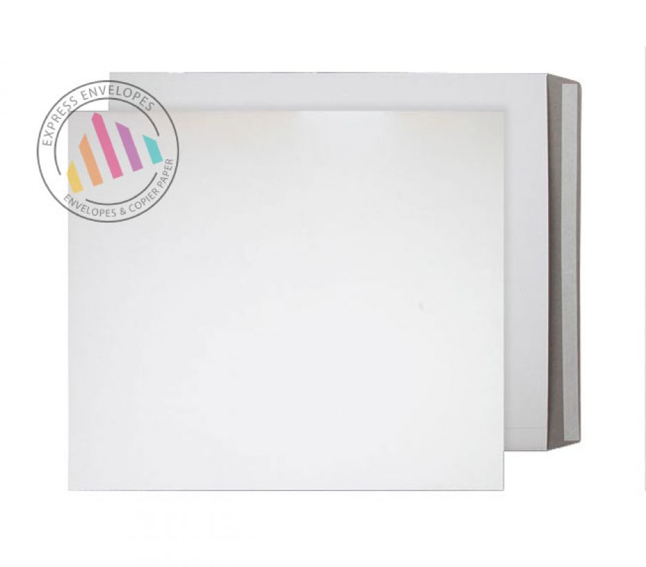 525 x 460mm - White All Board Envelopes - 350gsm - Peel and Seal