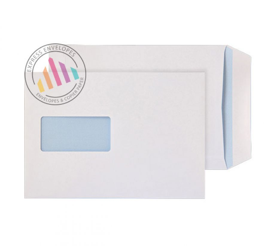 C5 - White Commercial Envelopes - 90gsm - Window - Self Seal