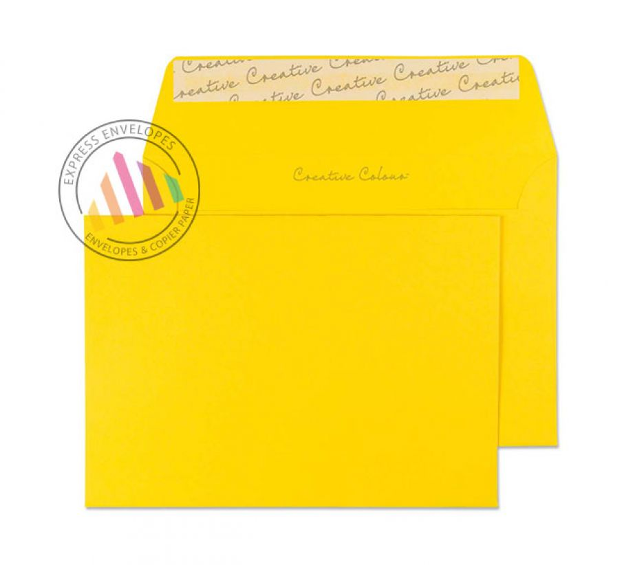 C6 - Egg Yellow Envelopes - 120gsm - Non Window - Peel and Seal