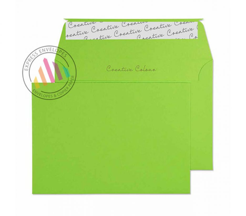 C6 - Lime Green Envelopes - 120gsm - Non Window - Peel and Seal