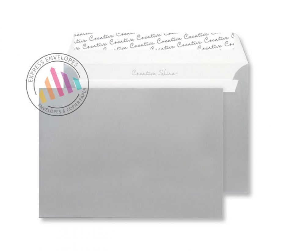 C6 - Metallic Silver Envelopes - 130gsm - Non Window - Peel and Seal