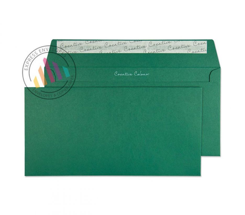DL+ - British Racing Green Envelopes - 120gsm - Non Window - Peel and Seal