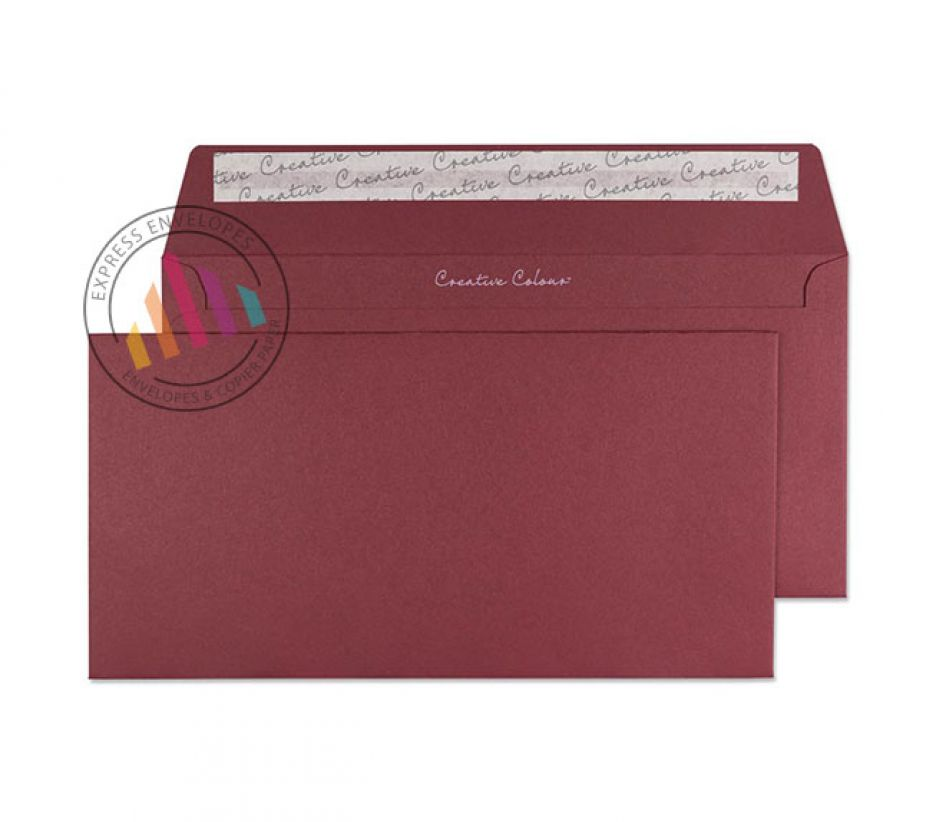 DL+ Bordeaux Envelopes - 120gsm - Non Window - Peel and Seal