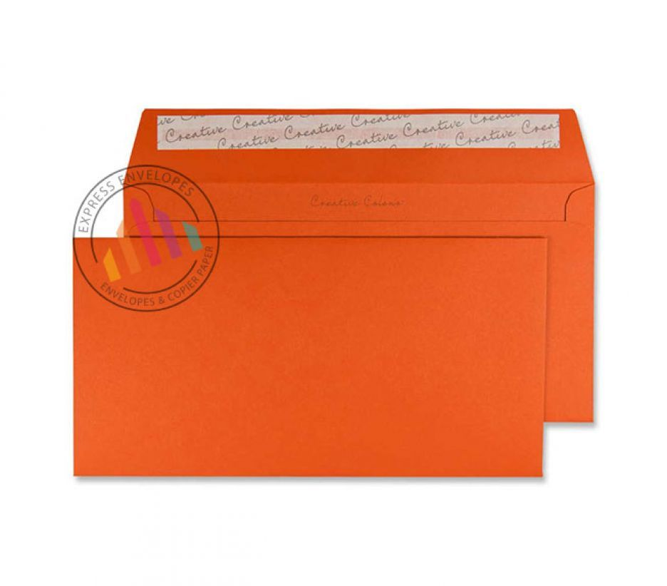 DL+ - Marmalade Orange Envelopes - 120gsm - Non Window - Peel and Seal