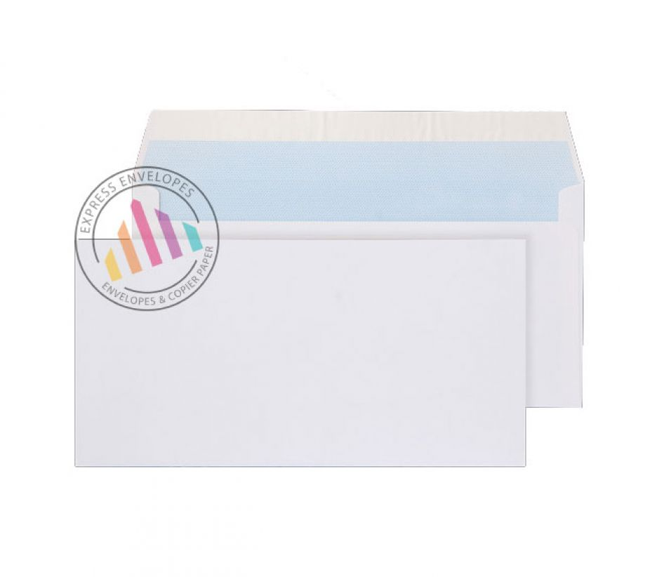 DL - White Commercial Envelopes - 100gsm - Non Window - Peel and Seal