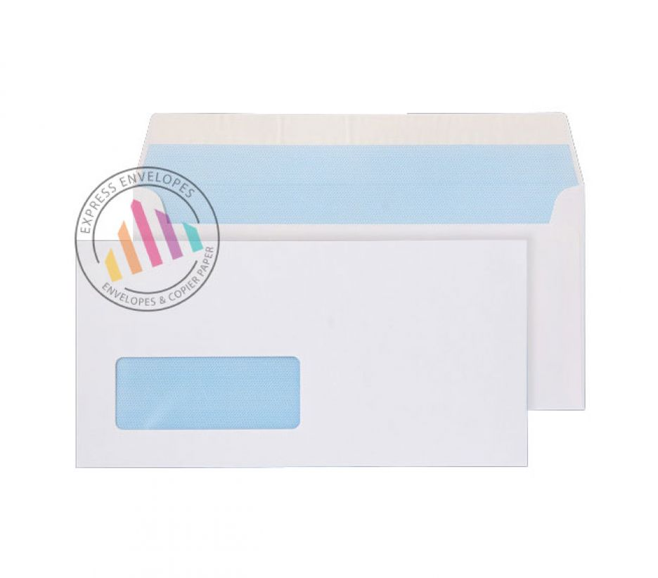 DL - White Commercial Envelopes - 100gsm - Window - Peel and Seal